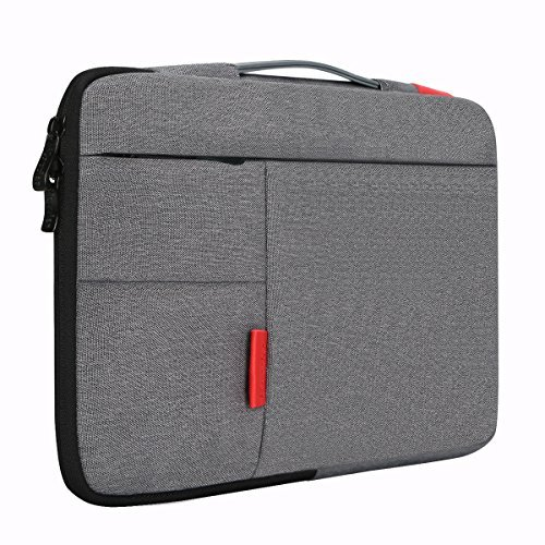 iCozzier 11-11.6 Inch Handle Strap Laptop Sleeve Case Bag Protective Bag for 11 Ultrabook/Notebook/MacBook-Grey