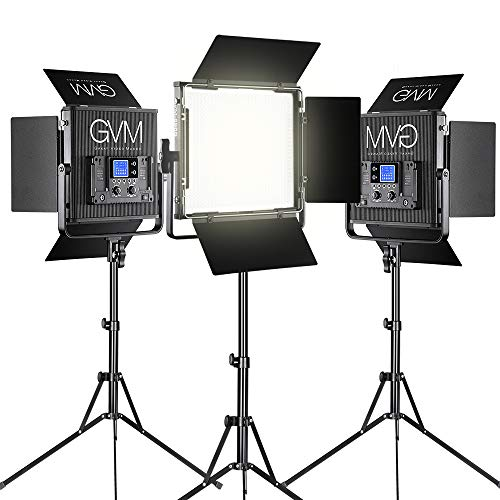 GVM LED Video Light Dimmable Bi-Color Aluminum Alloy Body with Wireless Controller for Studio, YouTube Video Photography, 896S-B3L from GVM Great Video Maker
