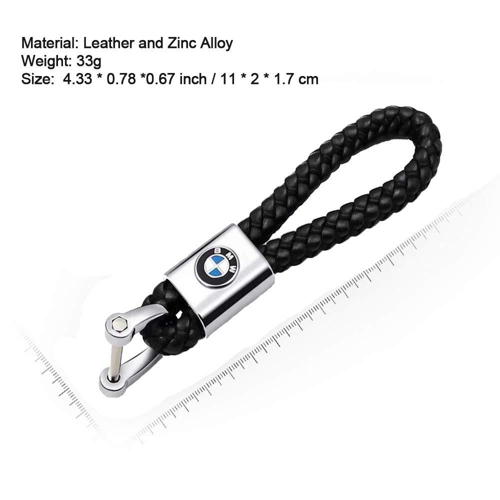 VILLSION Genuine Leather Car Logo Keyring Ford Keychain Accessories Key Chain with Zinc Alloy