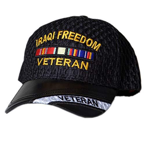 US HONOR Iraqi Freedom Veteran Mesh Cap [Adjustable Vet Hat]