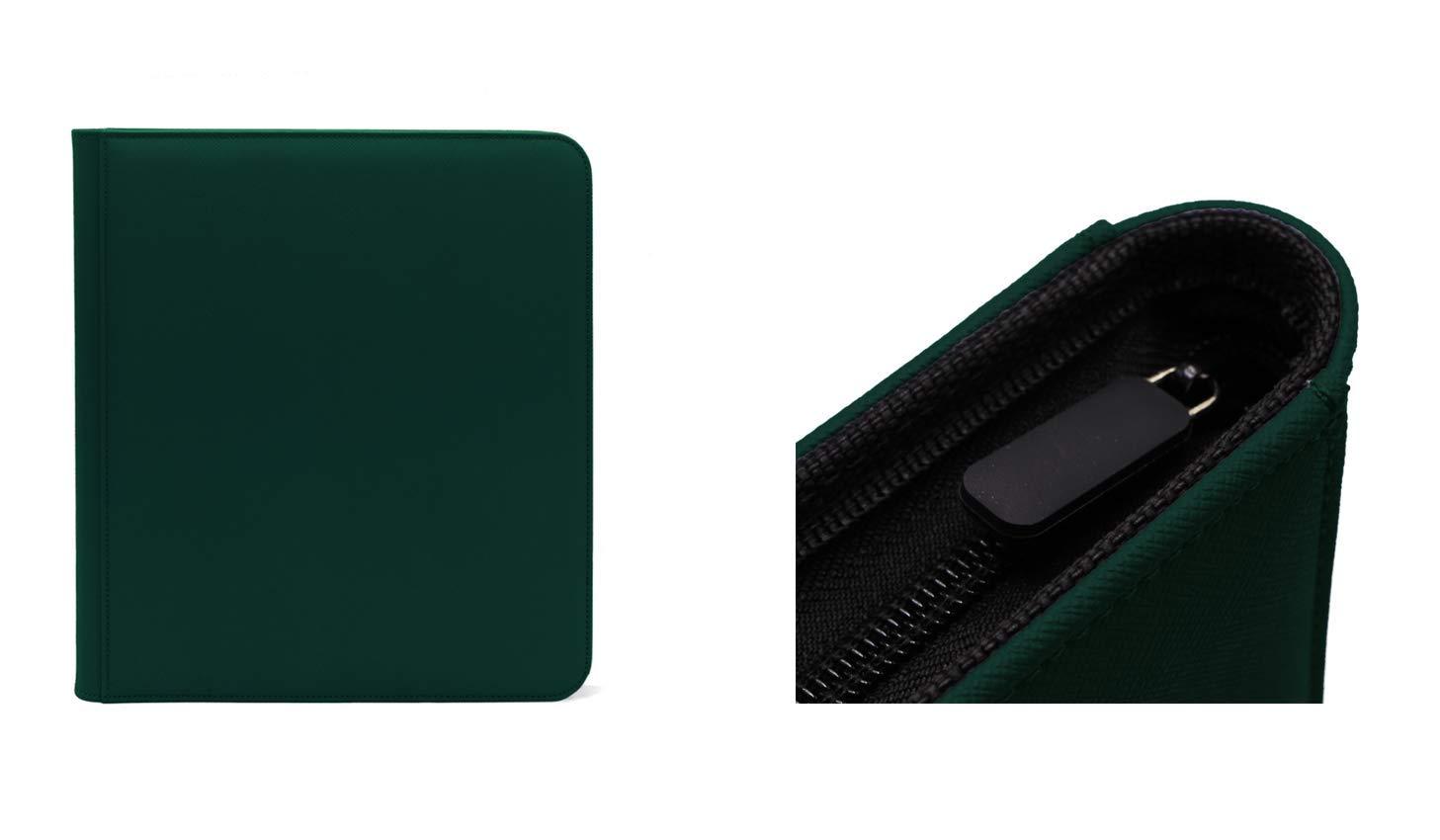 Grey Dex Protection Zip Binder 12 Pocket Card Storage Zipper Binder