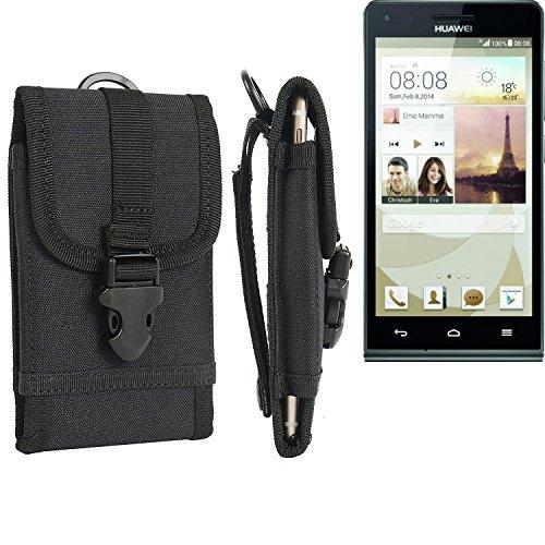 bolsa del cinturón / funda para Huawei Ascend G6, negro | caja del teléfono cubierta protectora bolso - K-S-Trade (TM)