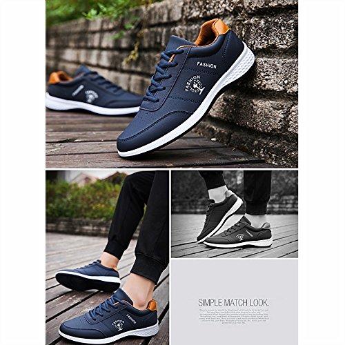 hot sale online 52742 617c0 Zapatos Transpirable Azul Blancos Blanco uk6 Casuales Viaje Versión  Acogedor Eu39 De Lvzaixi Coreana Tamaño Placas ...