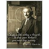Albert Einstein Motivation Quote Wall Art Poster