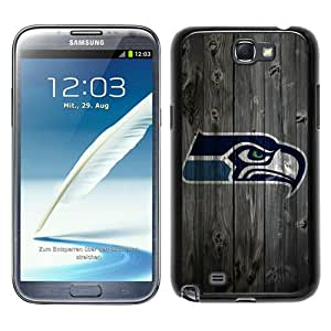 Seattle Seahawks 5 Black Abstract Custom Design Samsung Galaxy Note 2 7100 Protective Phone Case