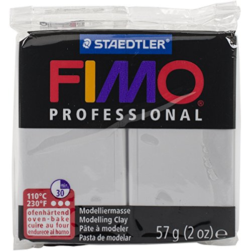Staedtler Fimo Professional Soft Polymer Clay, 2 oz, Dolphin Grey - Fimo Modeling Clay