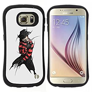 """Pulsar iFace Series Tpu silicona Carcasa Funda Case para Samsung Galaxy S6 , Arte villano Negro Penal Devil Sombrero Hombre Oscuro"""""""