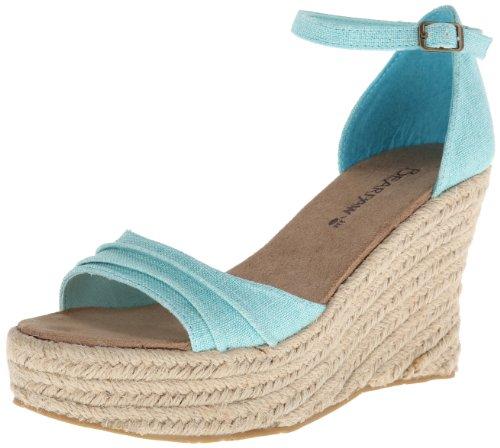Bearpaw Womens Blossom Ankle-High Fabric Sandal Tiffany Blue