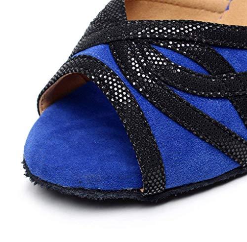 Blueheeled10cm Sparking Samba Latina Tango Tacones té De Our38 Mujer Altos Rojoheeled10cm moderno uk5 Satén Sandalias Eu37 Jazz Salsa Baile Cristales Zapatos Willsego Sz1nWxYgPP