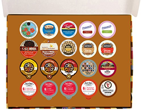 Crazy Cups Flavored Coffee Deluxe Variety Pack for Keurig K-Cups Brewers, 20 Count