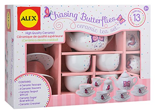 ALEX Toys Chasing Butterflies Ceramic Tea Set ()