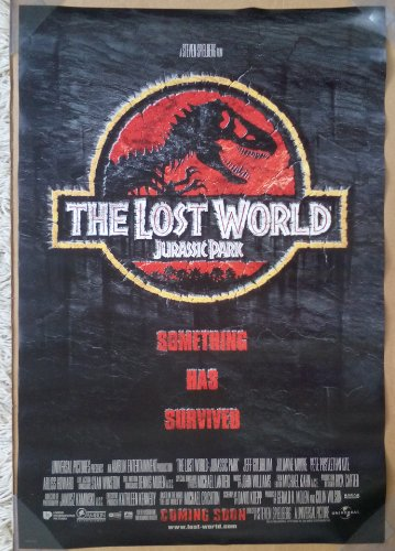 JURASSIC PARK THE LOST WORLD MOVIE POSTER 2 Sided ORIGINAL I