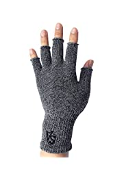 Vital Salveo - Outdoor Texting Fingerless Recovery Gloves (Pair)-Large
