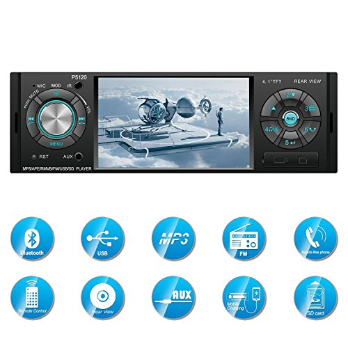 Carlike Car Stereo With Bluetooth,Single Din FM Radio and MP5 Player USB/SD/AUX/ FM Receiver Wireless Remote Control