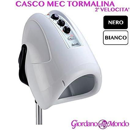Casco pelo Peluquería blanco o negro 2 Velocita mec Turmalina arredamento Ceriotti