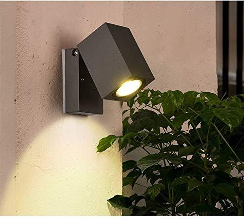 ext/érieur /étanche IP65 aluminium spotlight salon jardin GU10 lumi/ères incluses 10CM Gris Topmo-plus 5W L/ámpara mural applique design pour int/érieur Blanc chaud terrasse