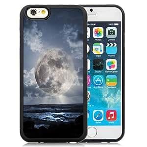 NEW Unique Custom Designed iPhone 6 4.7 Inch TPU Phone Case With Super Moon Over Sea_Black Phone Case