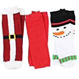Christmas and Halloween baby & toddler Leg Warmers for Girls & Boys in various styles (Newborn, 3 Pack)