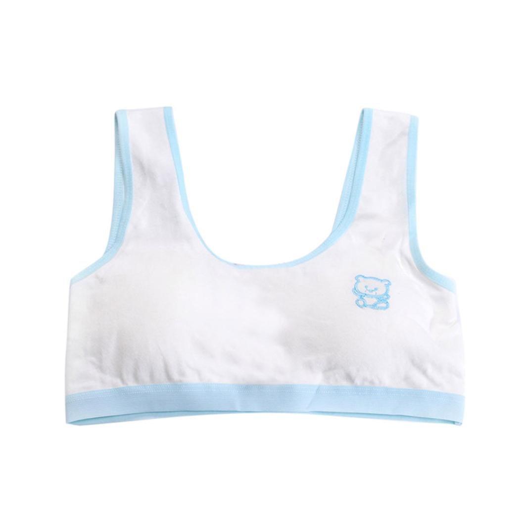 Colorful Girls Bra, (TM) New Lovely Girls Printing Underwear Bra Vest Children underclothes Sport Undies For 8-14 Years Old