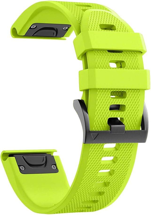 Red Quatix 3 Smartwatch Foretrex 601//701 Digit.Tail 26mm Replacement Adjustable Silicone QuickFit Band Sport Bracelet Strap for Garmin Fenix 5X//5X Plus//3 Zafiro HR D2 Bravo//Charlie//Delta PX