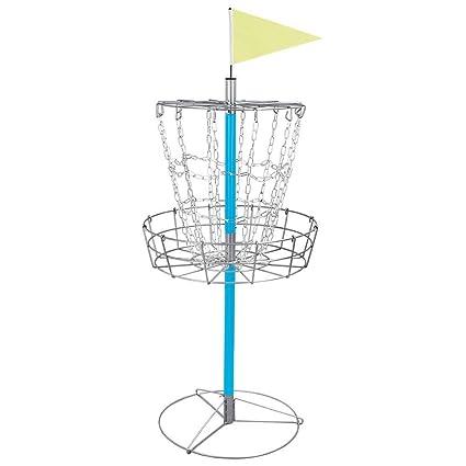 029aa8b79 Amazon.com : Yaheetech Portable Disc Golf Basket - Lightweight Double  Chains Portable Practice Target Steel Hole Disc Golf Goals Catcher : Sports  & Outdoors