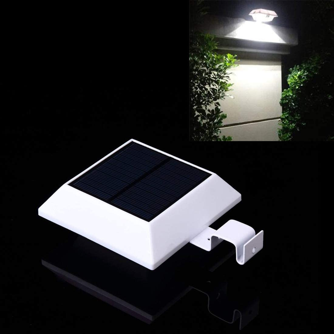 Solar Motion Sensor Light Outdoor 150LM Brighter Design/PIR Sensor Solar Powered Led/Waterproof Durable/Fence Wall Driveway Garden Patio Path Decking Light White Light