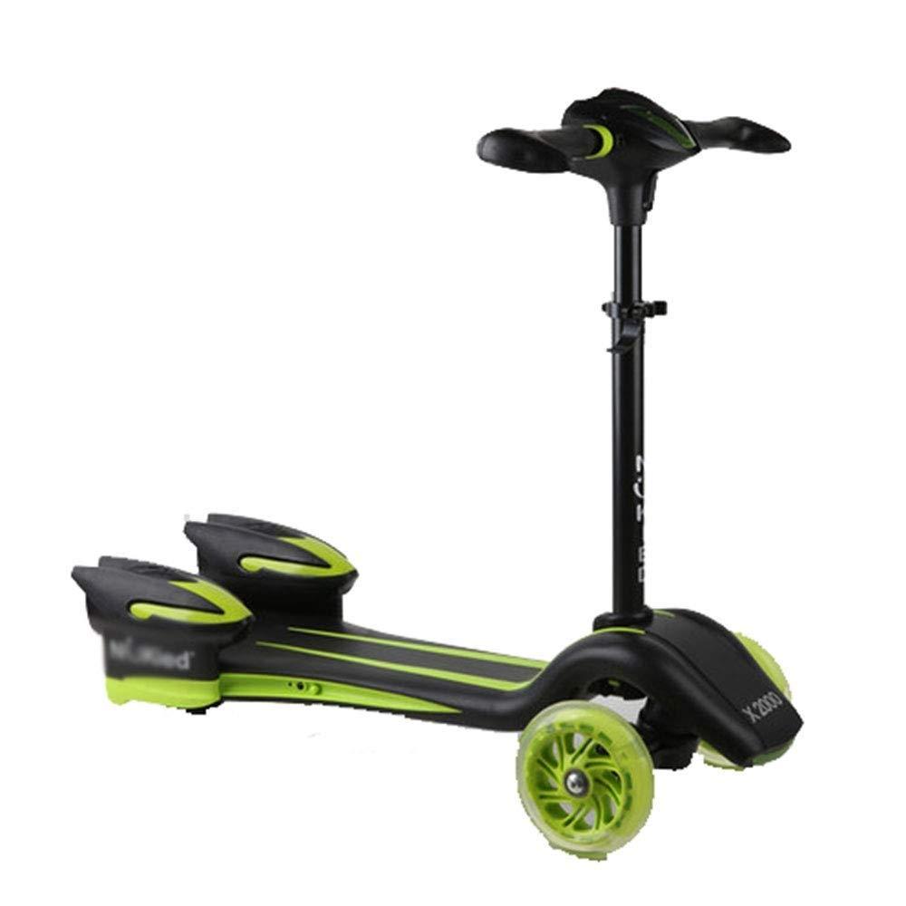 大人の上質  スクーター幼児用スクーター B07R6HQ1HH 360度トリック - 軽量アルミデッキ付きクワッドクランプ 子供用スクーター (色 : 緑) - (色 B07R6HQ1HH 緑, アウトレット建材屋:65330a02 --- 4x4.lt