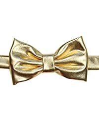 juDanzy baby boy toddler & child velcro bow tie in various colors (Gold Metallic)