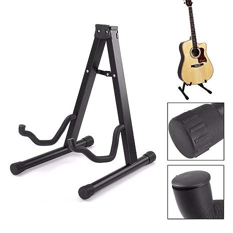Soporte para Guitarra Portátil Plegable Ukelele Porta Universal Suelo para guitarra Instrumento Protección Segura Stand para