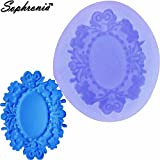Star-Trade-Inc - 10PCS/SET Mirror Frame Shaped 3D Silicone Mold Fondant Chocolate Candy Clay Jelly Molds Cake Decorating Tools m813