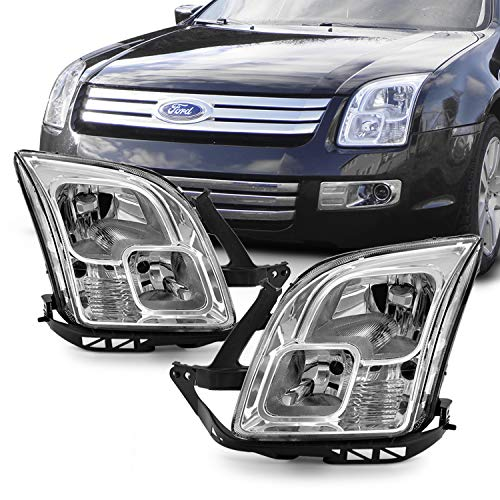 (Fits 2006-2009 Ford Fusion Original Manufacturer Style Headlights Assembly Chrome Housing Clear)