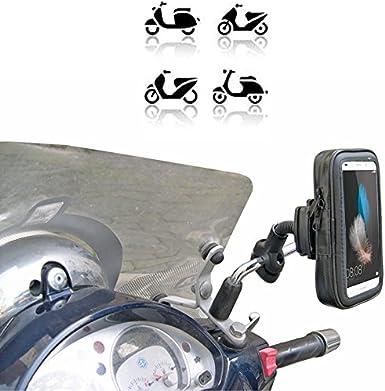 Soporte para smartphone - Ideal para scooter de marca Vespa, Piaggio, Honda, Suzuki, Yamaha, Kymco, etc - Fabricado en Europa: Amazon.es: Electrónica