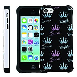 [ManiaGear] SLIM Rugged Hybrid Image Protector Cover (Royal Queen) for Iphone 5C