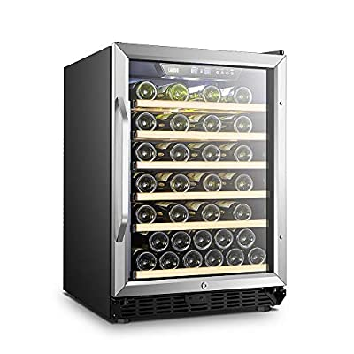 Lanbo Built-in Compressor Wine Fridge Cooler With Reversible Door 52 Bottles