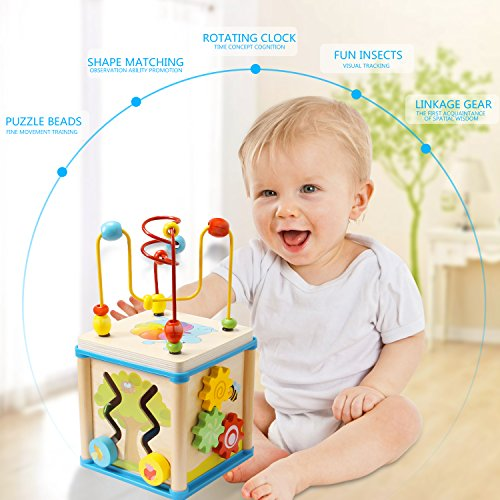 LuaLua Baby Toys for 1 Year Old Educational Wooden Bead ...