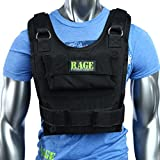RAGE Fitness Adjustable Weighted Vest, Black, One Size
