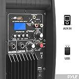 Bluetooth Loudspeaker PA cabinet Speaker System Powered 2-way full range sound, USB reader, 8-inch, 600 Watt, AM/FM Radio, Aux input