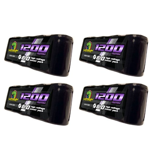 Venom 6v 1200mAh 5-Cell Flat Receiver NiMH Battery x4 - Cell Flat 5