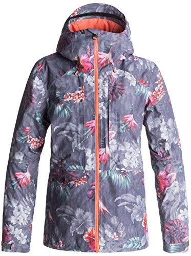 Roxy Womens Essence Jacket, Hawaiian Tropik, Medium