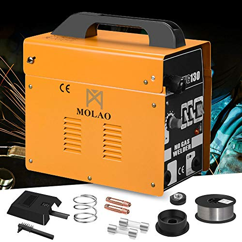 Welder Gas Less Flux Core Wire Automatic Feed Welding Machine w/Mask MIG 130
