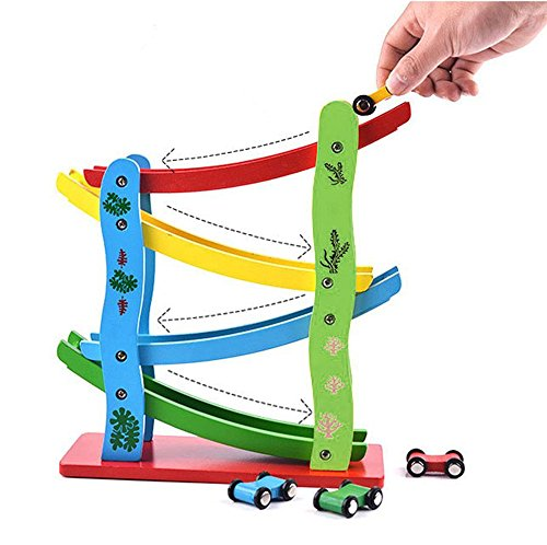 Big Boy Toys Games : Lewo wooden big ramp race boy car toddlers toys games for