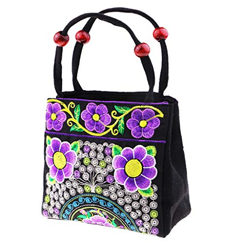 Embroidery Homyl Boho as Bags Shoulder described Style Ethnic D C Vintage Handbag Travel Canvas Bag BY7rqYX