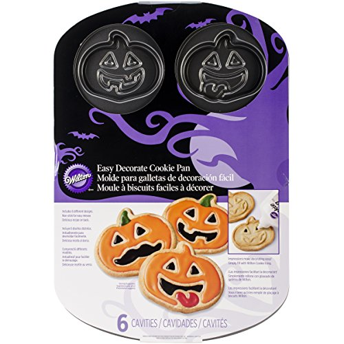 Wilton 2105-1292 Jack-O-Lantern 6-Cavity Cookie (Recipe For Wilton Halloween Cookie Pan)