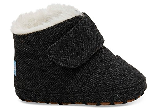 (TOMS Kids Unisex Cuna (Infant/Toddler) Black Herringbone 2 M US Infant)