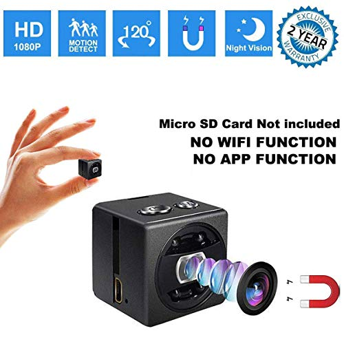 Mini Spy Camera cop cam-HD 1080P Portable Small Nanny Cam Surveillance Magnetic Security Camera with Night Vision/Motion Detection Perfect Indoor/Outdoor Surveillance Camera Home Car Office (Blue)