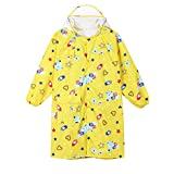 Lurryly Children Boys Girls Cartoon Printed Raincoat Kids Cute Waterproof Coat 2-14 T