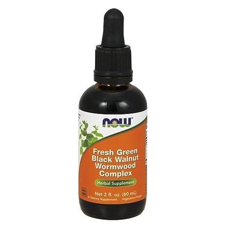 Now Foods, Frischer grün schwarzer Walnuss-Wermut-Komplex, 60ml: Amazon.es: Salud y cuidado personal