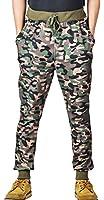 Demetory Men Slim Fit Camouflage Drawstring Sports Baggy Jogging Harem Pants