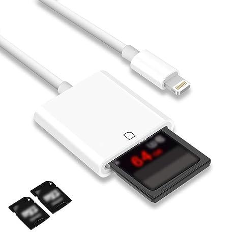 aceyoon lector de tarjetas SD para iPhone iOS 11 o 10.3.x o ...
