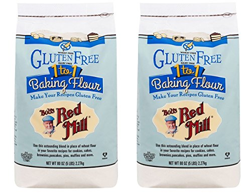 Bobs Red Mill GlutenFree 1to1 Baking Flour 5Lb/80oz Bag Pack of 2
